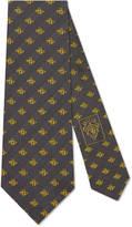 Gucci Checked bee jacquard silk tie