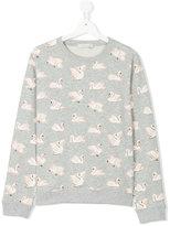 Stella McCartney teen Swan print sweatshirt