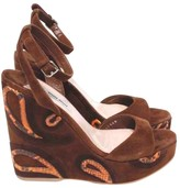 Miu Miu Brown Suede Sandals