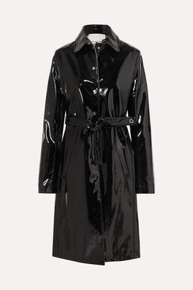 Paco Rabanne Belted Vinyl Trench Coat - Black