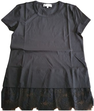 Carven Black Cotton Top for Women