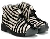 Bumper zebra pattern boots