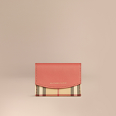 Burberry Horseferry Check And Leather Card Case