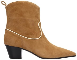 L'Autre Chose Texan Ankle Boots In Leather Color Suede