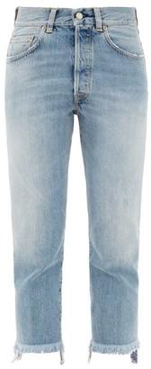 Golden Goose Texas Frayed-cuff Slim-leg Jeans - Womens - Light Denim