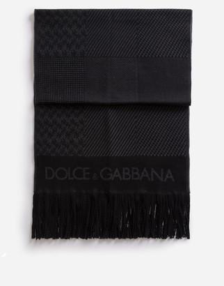 Dolce & Gabbana Patchwork Wool Scarf
