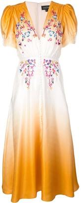 Saloni dip dye tea dress