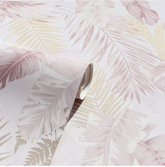 Arthouse Soft Tropical Blush / Gold Wallpaper