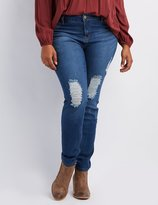 Charlotte Russe Plus Size Refuge Skin Tight Legging Jeans