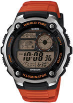 Casio Illuminator Mens Orange Resin Strap Sport Watch AE2100W-4AV