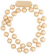 Balenciaga Metal Pearl Double Necklace