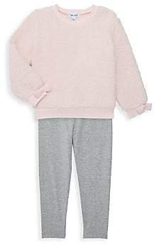 Splendid Little Girl's 2-Piece Faux Fur Sweater & Leggings Set