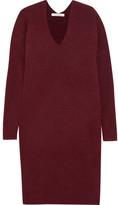 Mes Demoiselles Pearl Knitted Midi Dress - Burgundy