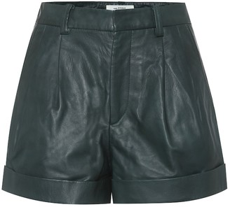 Etoile Isabel Marant Abot high-rise leather shorts