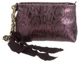 Lanvin Embossed Leather Cosmetic Bag