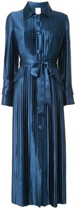 Huishan Zhang Tie Waist Shirt Dress