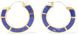 Pamela Love Enclosure gold-plated lapis lazuli earrings
