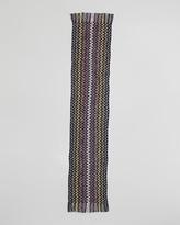 Missoni Zigzag Knit Scarf, Navy/Green