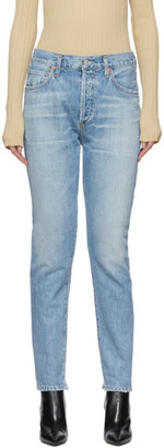 Citizens of Humanity Blue Liya Classic Fit Jeans