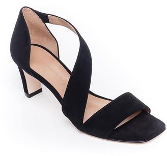 Bernardo Camille Suede Crossover Strap Sandals