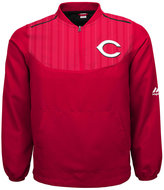 Majestic Boys' Cincinnati Reds Quarter-Zip Pullover Jacket