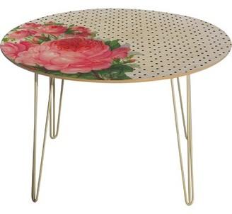 Deny Designs Allyson Johnson Floral Polka Dots Dining Table
