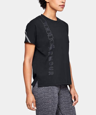 Under Armour Women's Tee Shirts BLACK - Black 'Under Armour' Lighter Longer Tee - Women