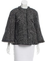 Zac Posen Wool Collarless Jacket
