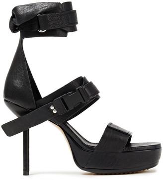 Rick Owens Knotted Leather Platform Sandals