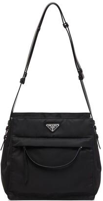 Prada Hobo triangle-logo shoulder bag