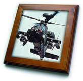 3dRose LLC ft_730_1 Helicopters - Apache Longbow - Framed Tiles