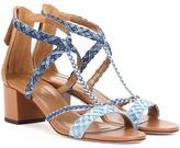 Aquazzura Beverly Hills 50 denim sandals
