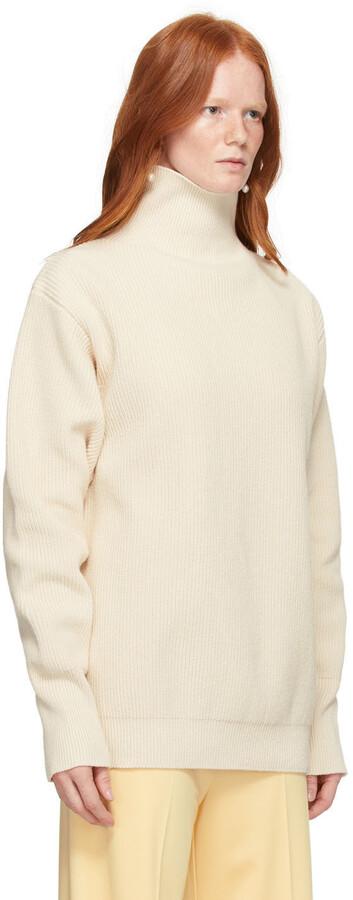 Thumbnail for your product : Jil Sander Off-White Cotton Turtleneck