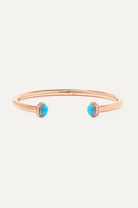 Piaget Possession 18-karat Rose Gold, Turquoise And Diamond Cuff