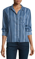 Rails Dana Variegated-Stripe Denim Shirt
