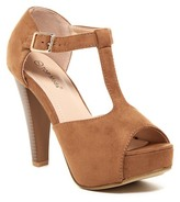 Top Moda Tingo Platform T-Strap Heeled Sandal