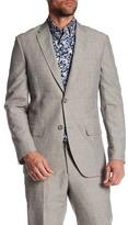 Perry Ellis Notch Collar Slim Fit Blazer