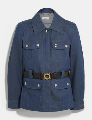 Coach Denim Belted Heritage Jacket