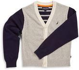 Nautica Boys 8-20 Colorblocked Cotton Sweater
