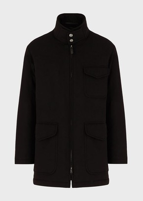 Giorgio Armani Water Repellent Parka With Cashmere Flakes Padding