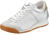 Ash Soul Perforated Lace-Up Sneaker, Off White