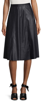 Rebecca Taylor Faux Leather A-Line Skirt