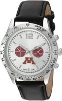 Game Time Men's COL-LET-MIN Letterman Analog Display Japanese Quartz Black Watch