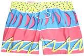 River Island Mens Pink retro abstract print swim shorts