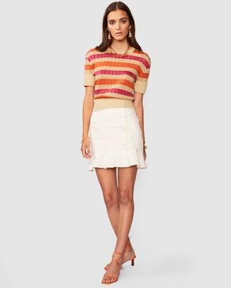 SUBOO Jacquelyn Stripe Crop Sleeve Jumper