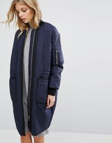 Whistles Lini Quilted Longline Jacket