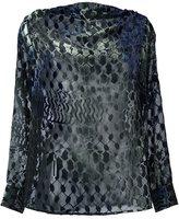 Lala Berlin velvet blouse - women - Polyamide/Viscose - M