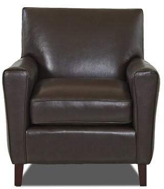 Wayfair Custom Upholstery Gormley Leather Armchair Body Fabric: Durango Espresso