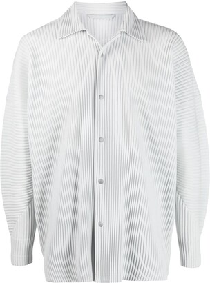 Homme Plissé Issey Miyake Pleated Button-Down Shirt
