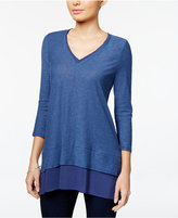 Vince Camuto TWO by V-Neck Layered-Look Top